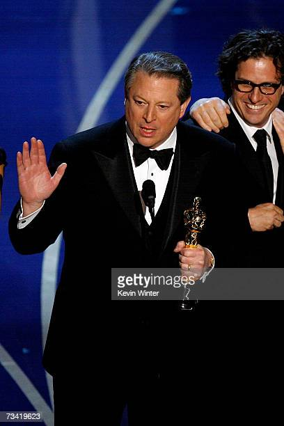 """Former Vice President Al Gore accepts the award for Best Documentary Feature for """"An Inconvenient Truth"""" during the 79th Annual Academy Awards at the..."""