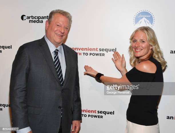 Former Vice President Al Gore and Minister of the Environment and Climate Change Catherine McKenna attend a special Toronto screening of 'An...