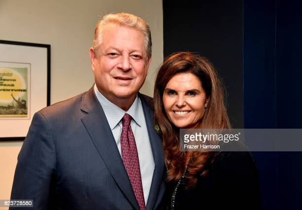 Former Vice President Al Gore and Moderator Maria Shriver attend a special screening QA of 'An Inconvenient Sequel Truth to Power' at The Cinerama...