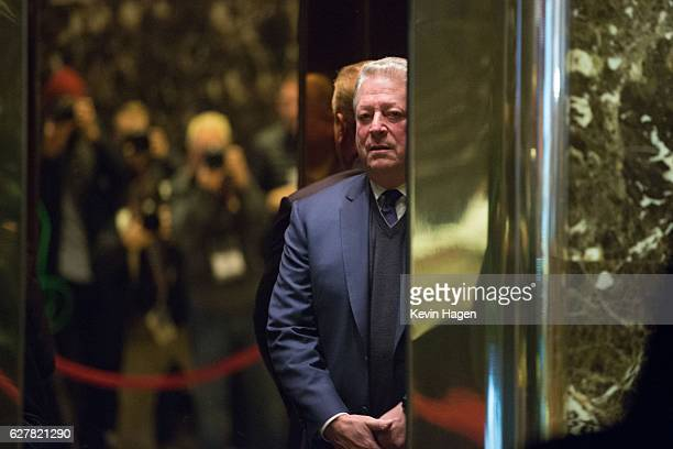 Former Vice President Al Gore arrives at Trump Tower on December 5 2016 in New York City Presidentelect Donald Trump has been holding daily meetings...