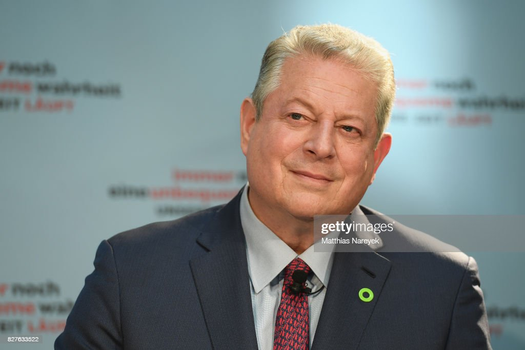 Former Vice President Al Gore attends a press conference for 'An Inconvenient Sequel: Truth to Power' at Hotel Adlon on August 8, 2017 in Berlin, Germany.