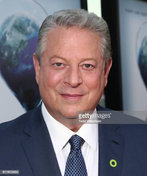 Former Vice President Al Gore attends a screening of Paramount Pictures' 'An Inconvenient Sequel Truth To Power'at ArcLight Hollywood on July 25 2017...