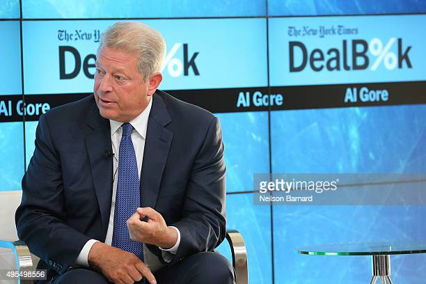 Former Vice President Al Gore chairman of Generation Investment Management and chairman of The Climate Reality Project participates in a panel...