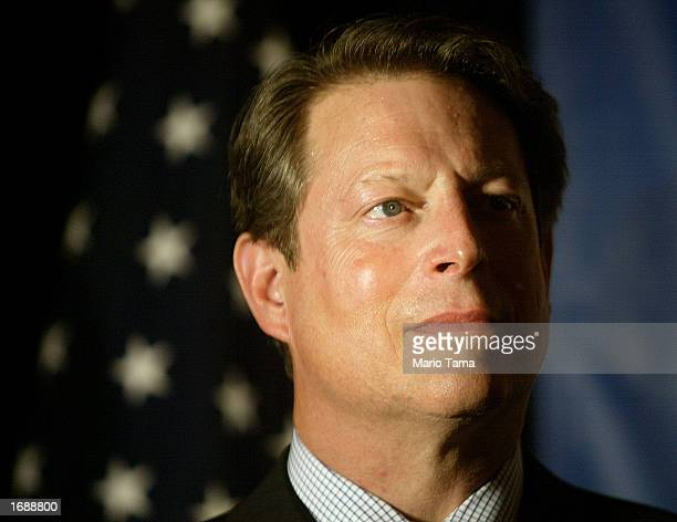 Former Vice President Al Gore looks on as New York State gubernatorial candidate H Carl McCall speaks during a McCall fundraiser September 26 2002 in...