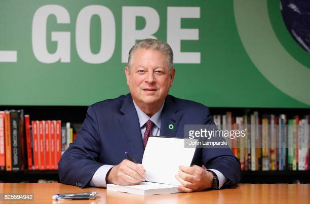 Former Vice President Al Gore signs An Inconvenient Sequel Truth To Truth at Barnes Noble 5th Avenue on August 2 2017 in New York City