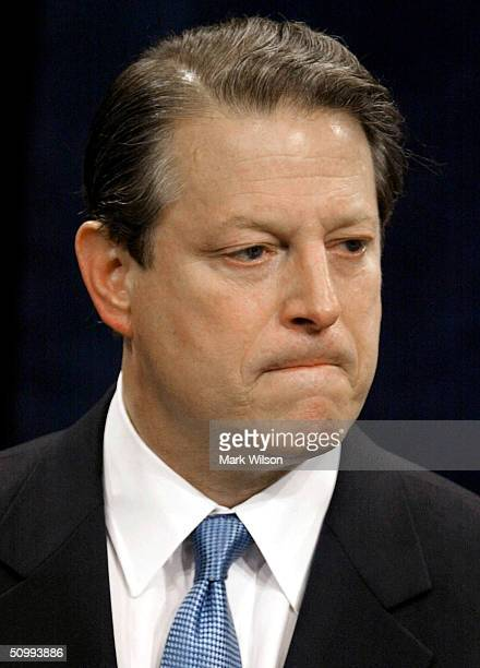 Former Vice President Al Gore speaks at the Georgetown University Law Center June 24, 2004 in Washington, DC. Gore accused the Bush administration of...