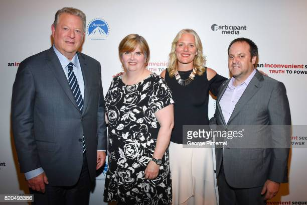 Former Vice President Al Gore VP Communications and Investor Relations of Cineplex Entertainment Pat Marshall Minister of the Environment and Climate...