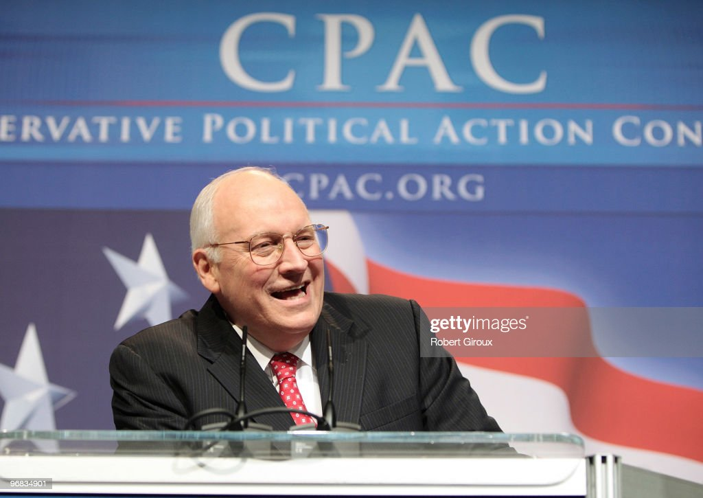 Former Vice President Dick Cheney speaks to attendees at the annual Conservative Political Action Conference on February 18, 2010 in Washington, DC. Cheney was a surprise speaker at the conservative event.