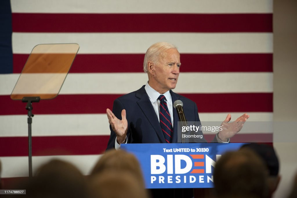Former Vice President Joe Biden Makes Campaign Stops In New Hampshire : News Photo