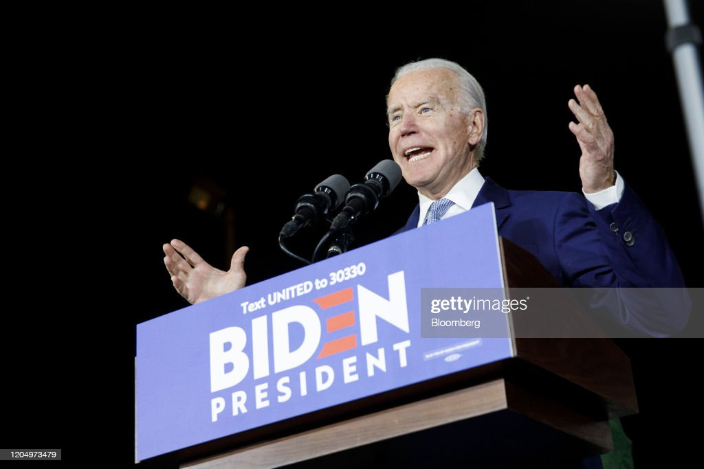 Joe Biden Holds Super Tuesday Rally : News Photo