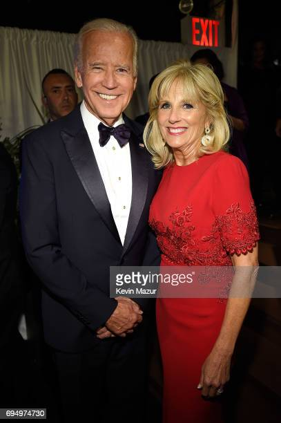 Former Vice President Joe Biden and Jill Biden attend the 2017 Tony Awards at Radio City Music Hall on June 11 2017 in New York City