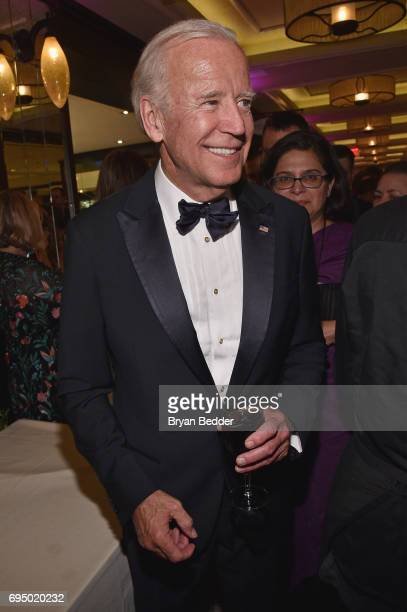 Former Vice President Joe Biden attends the 2017 Tony Awards Gala at The Plaza Hotel on June 11 2017 in New York City