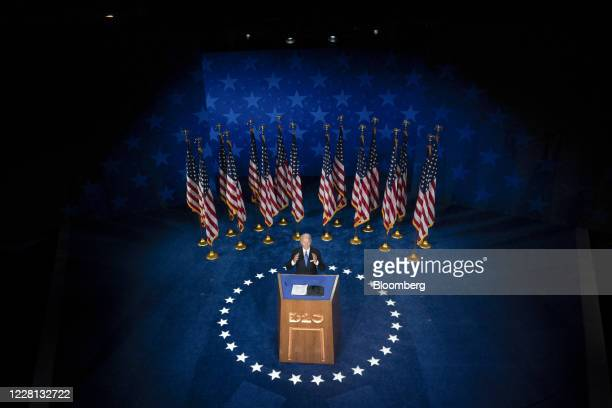 Former Vice President Joe Biden, Democratic presidential nominee, speaks during the Democratic National Convention at the Chase Center in Wilmington,...