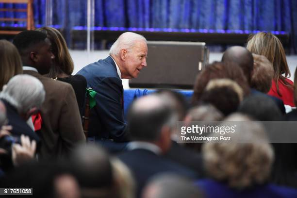 Former Vice President Joe Biden is seen before an event for former President Barack Obama and former First Lady Michelle Obama as they have their...