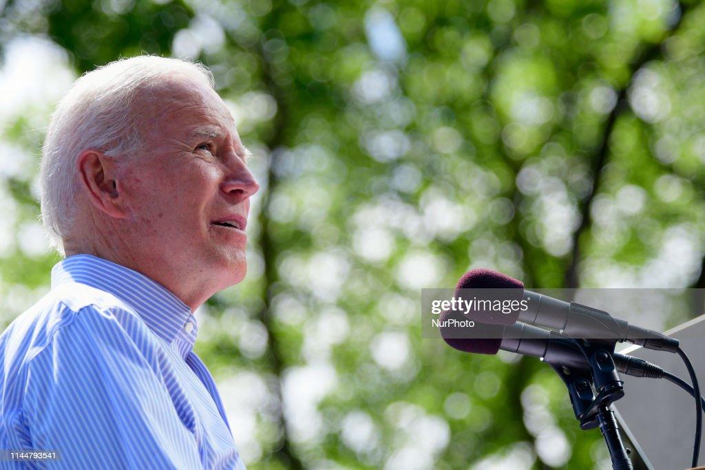 Biden Kicks Off Presidential Campaing in Philadelphia : News Photo