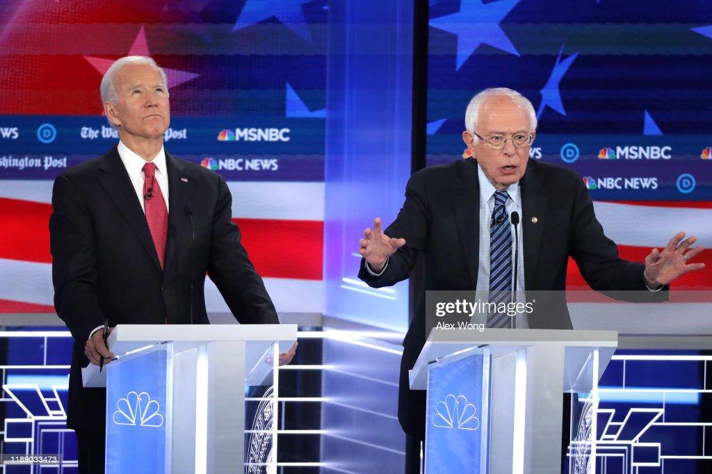Democratic Presidential Candidates Participate In Debate In Atlanta, Georgia : News Photo