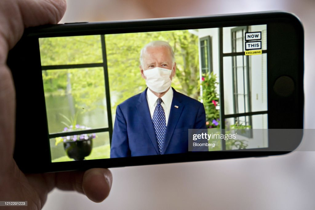 Former Vice President Biden Virtual Address As Group Launches $10 Million In Ads : News Photo