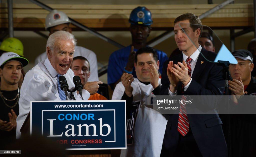 Joe Biden Campaigns With PA Democratic Congressional Candidate Conor Lamb