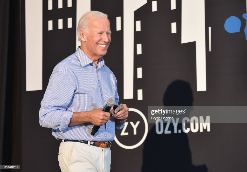 Former Vice President Joe Biden speaks onstage during OZY FEST 2017 Presented By OZY.com at Rumsey Playfield on July 22, 2017 in New York City.