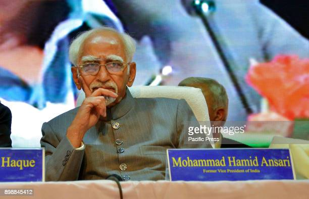 Former Vice President of India Mohammad Hamid Ansari during a seminar 'Face to Face Is Secularism Dead in India' at Gandhi Bhawan of Jadavpur...