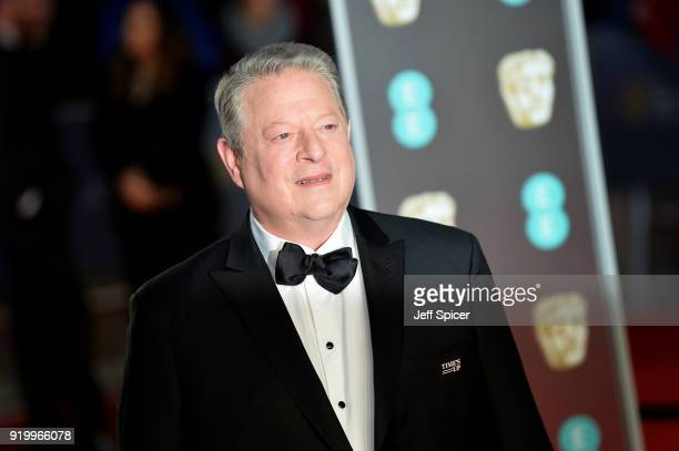 Former Vice President of the United State Al Gore attends the EE British Academy Film Awards held at Royal Albert Hall on February 18 2018 in London...
