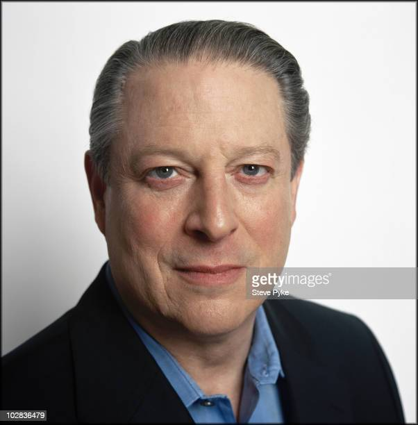 Former Vice President of The United States Al Gore poses at a portrait session for Time Magazine in Nashville