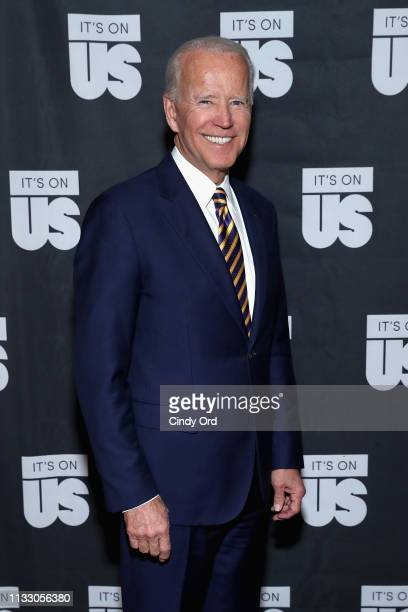 Former Vice President of the United States Joe Biden attends The 2019 Biden Courage Awards at Russian Tea Room on March 26 2019 in New York City