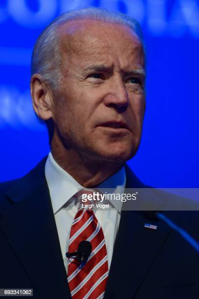 Former Vice President of the United States Joseph Biden speaks during the Concordia Europe Summit on June 7 2017 in Athens Greece