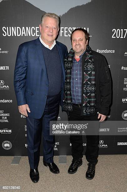 Former Vice President of the US Al Gore and founder/chairman Participant Media Jeff Skoll attend the 'An Inconvenient Sequel Truth to Power' World...