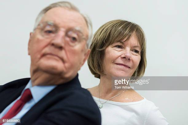 Former Vice President Walter Mondale and Lt Gov Tina Smith attend a fish fry and fundraiser for Rep Rick Nolan DMinn at the Northland Arboretum in...