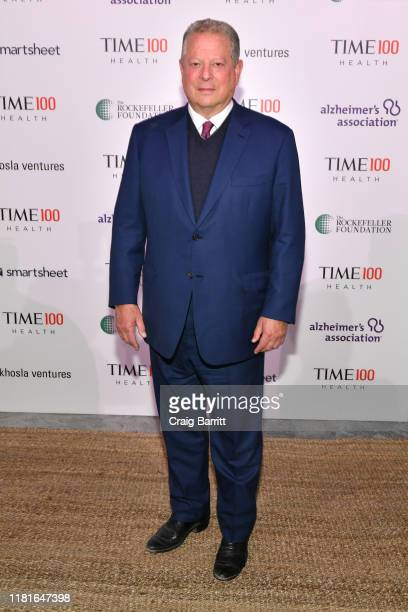 Former VicePresident Al Gore arrives at the TIME 100 Health Summit at Pier 17 on October 17 2019 in New York City