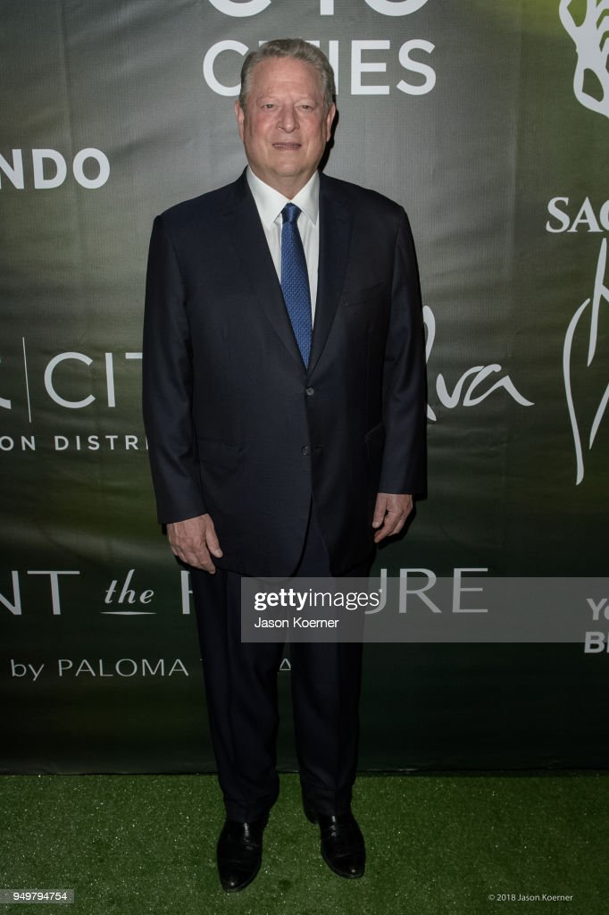 Former Vice-President Al Gore attends the 2018 Sachamama Green Gala Awards at Magic City Studios on April 21, 2018 in Miami, Florida.