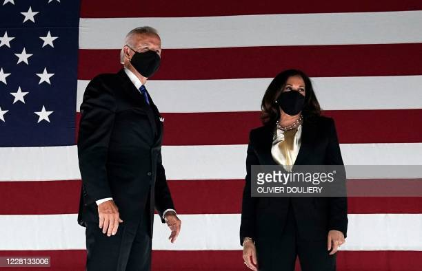Former vice-president and Democratic presidential nominee Joe Biden and Senator from California and Democratic vice presidential nominee Kamala...