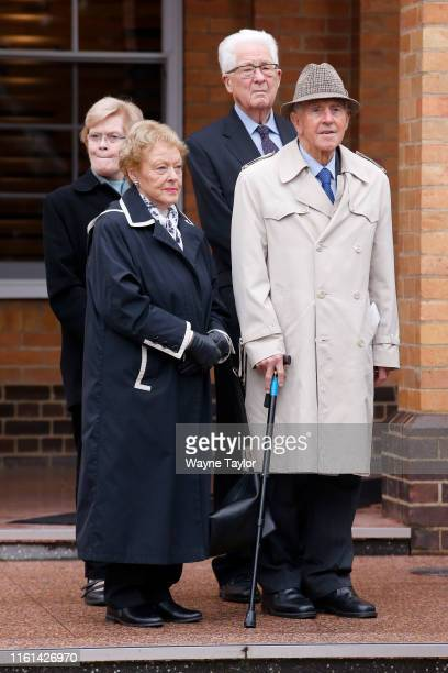 Former Victorian Premier John Cain during the funeral for former Victorian Police Chief Commissioner Mick Miller on August 13, 2019 in Melbourne,...