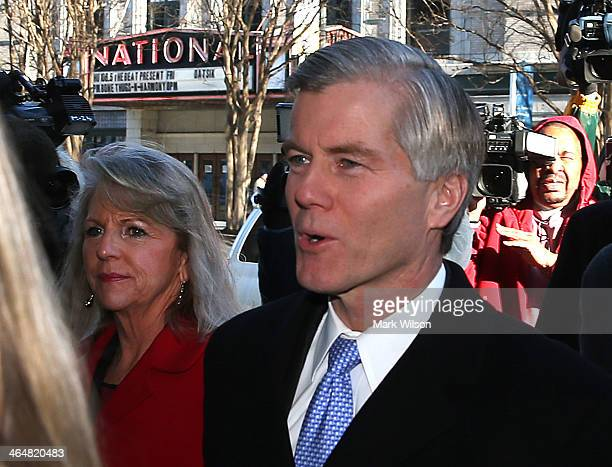 Former Virginia Gov Bob McDonnell and his wife Maureen arrive for a hearing at the US District Court for the Eastern Districk of Virginia on January...