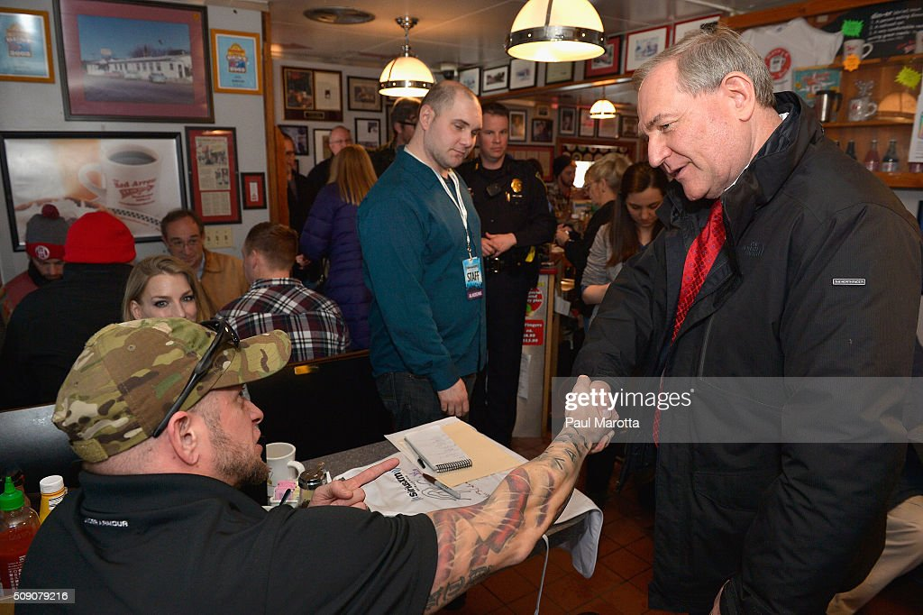SiriusXM Broadcasts New Hampshire Primary Coverage Live From Iconic Red Arrow Diner - Day 1
