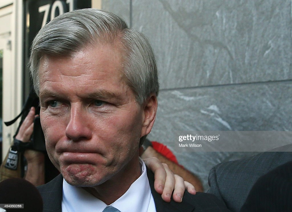 Former Virginia Governor Bob McDonnell leaves his trial at U.S. District Court, August 29, 2014 in Richmond, Virginia. McDonnell and his wife Maureen are on trial for accepting gifts, vacations and loans from a Virginia businessman in exchange for helping his company, Star Scientific.