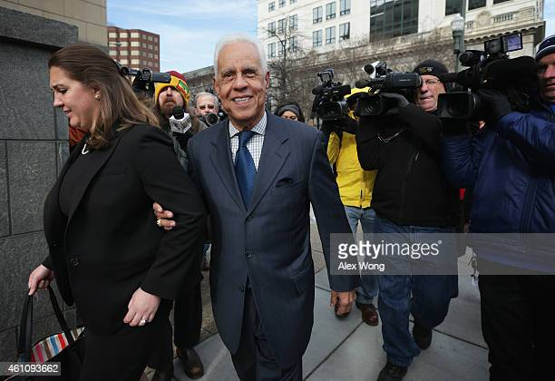 Former Virginia Governor Douglas Wilder leaves US District Court for the Eastern District of Virginia after he testified at former Virginia Governor...