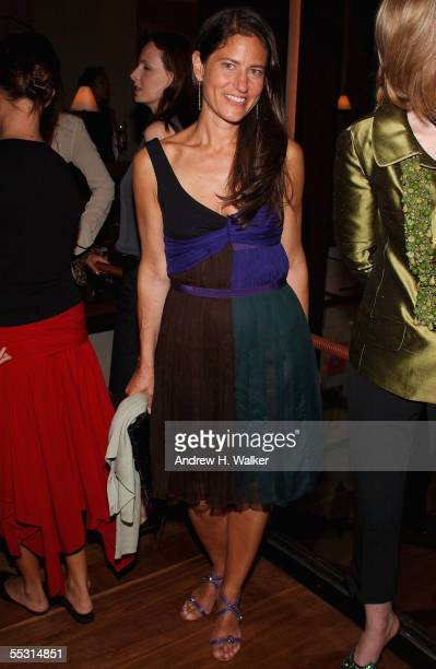 Former VP of Prada Katherine Ross attends a Harper's Bazaar party hosted by Glenda Bailey on September 7 2005 in New York NY