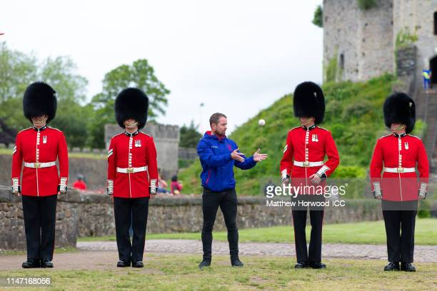 Former Wales ruby international Shane Williams takes part in 'The Ultimate Delivery' with Welsh Guards at Cardiff Castle a catching relay throughout...