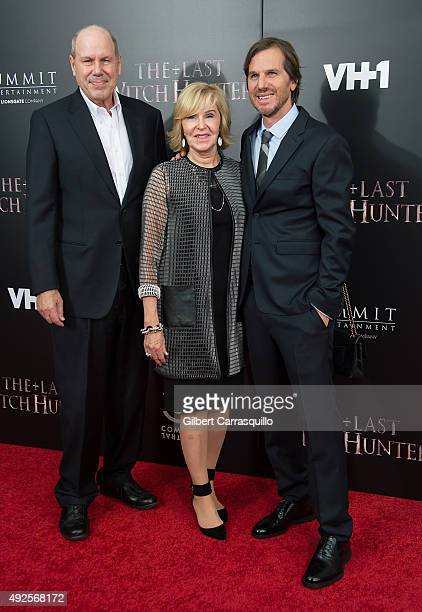 Former Walt Disney Company CEO Michael Eisner Jane Breckenridge and director Breck Eisner attend The Last Witch Hunter New York Premiere at AMC Loews...