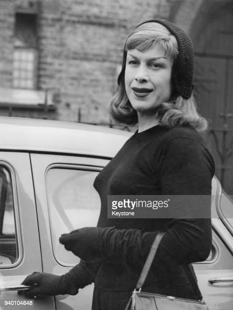 Former wartime fighter pilot Roberta Cowell leaves the Croydon Bankruptcy Court in London after admitting her financial debts, 19th June 1958. Born...