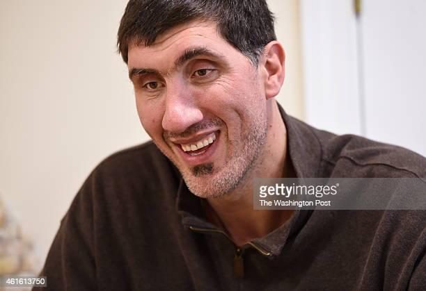 Former Washington Bullets center Gheorghe Muresan at his home on January 8, 2015 in Potomac, MD.