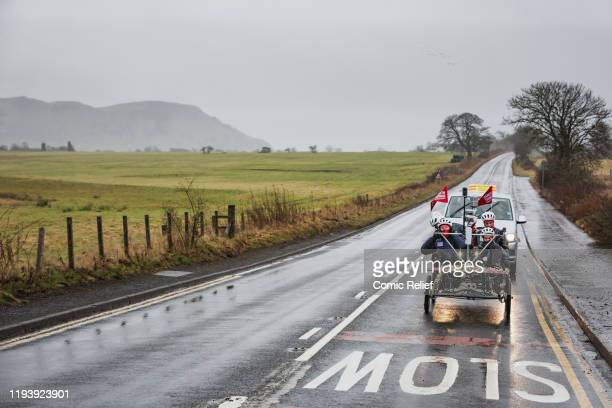 Former Welsh and British Lions rugby captain Gareth Thomas begins Day 6 of the Tour De Trophy challenge in aid of Sport Relief. Cycling from Cardiff...