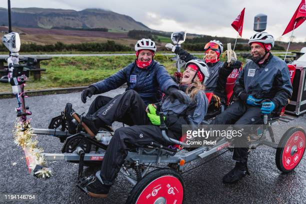 Former Welsh and British Lions rugby captain Gareth Thomas begins Day 6 of the Tour De Trophy challenge in aid of Sport Relief. Gareth is cycling...