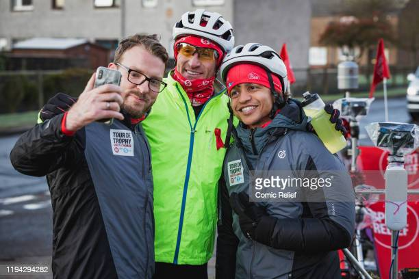 Former Welsh and British Lions rugby captain Gareth Thomas begins Day 7 of the Tour De Trophy challenge in aid of Sport Relief. Cycling from Cardiff...