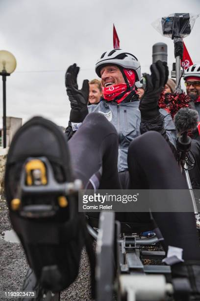 Former Welsh and British Lions rugby captain Gareth Thomas on Day 6 of the Tour De Trophy challenge in aid of Sport Relief. Gareth is cycling from...