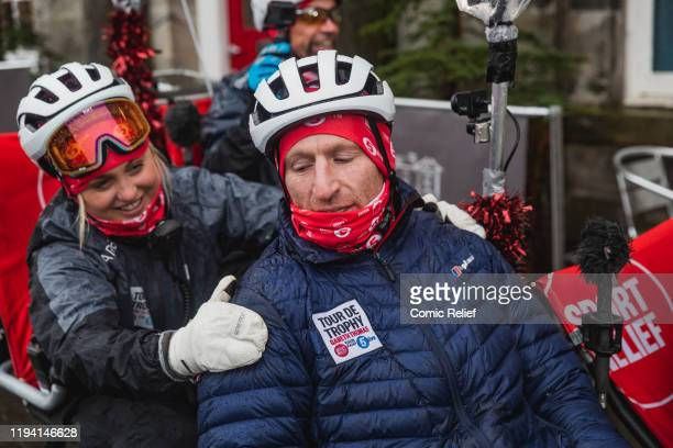 Former Welsh and British Lions rugby captain Gareth Thomas on Day 6 of the Tour De Trophy challenge in aid of Sport Relief. Cycling from Cardiff to...