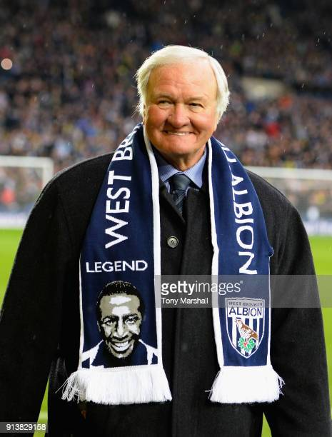 Former West Bromwich Albion Manager Ron Atkinson during the tribute to Cyrille Regis before the Premier League match between West Bromwich Albion and...