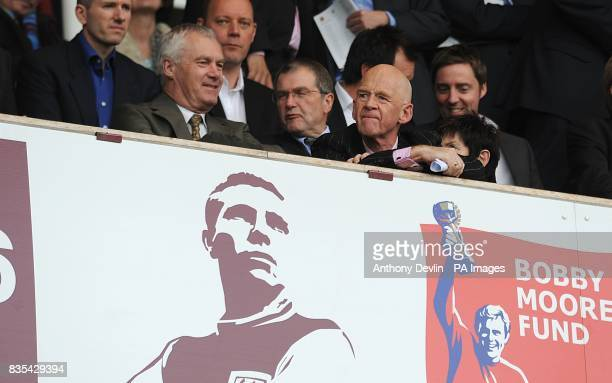 Former West Ham United Chairman Eggert Magnusson in the stands prior to kick off